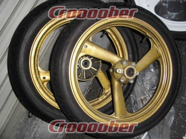 rz250r yamaha genuine front and rear wheel set house painted
