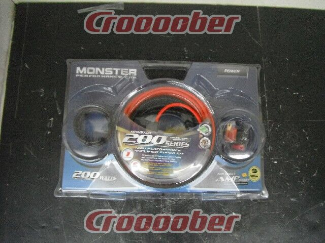 MONSTER 200SERIES AMPLIFIER POWER HOOKUP KIT MPCP200 BAP200 200WAMP ...