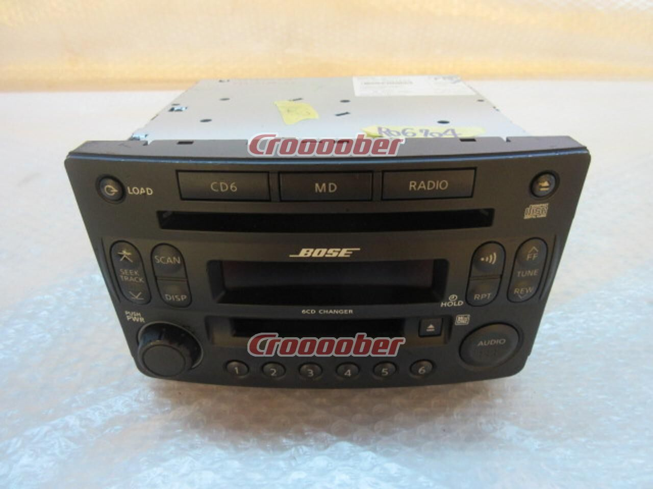 Nissan Z33 Fairlady Z Previous Term Genuine BOSE 6 Disc Changer Built In CD MD Tuner