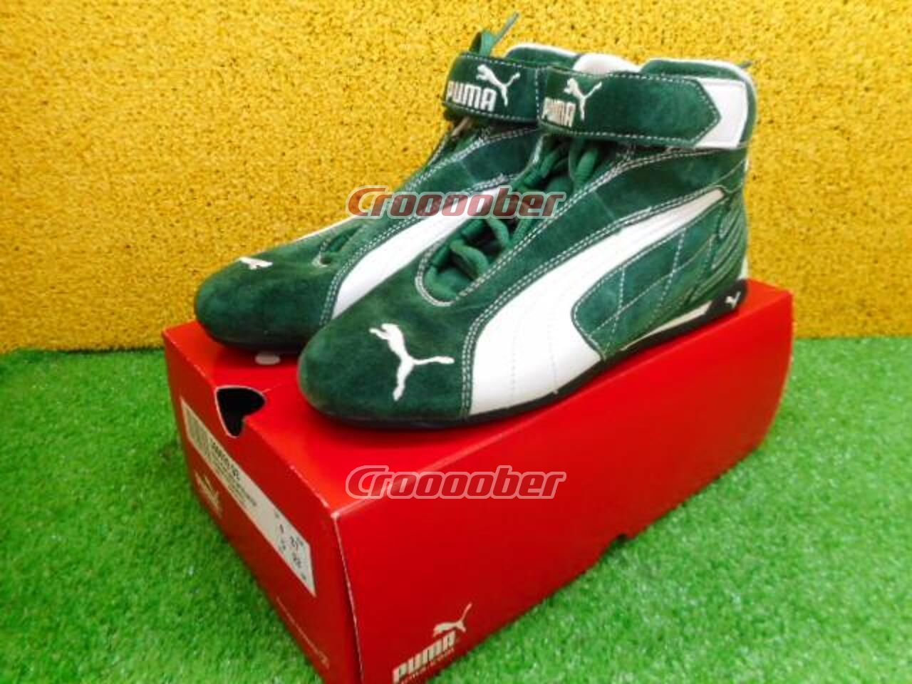 nouveau style 44a2c 38f9b PUMA 4 Wheel Racing Shoes 300629-03 Replicat Mid Specialized Suede Green /  White | Other Parts | Croooober