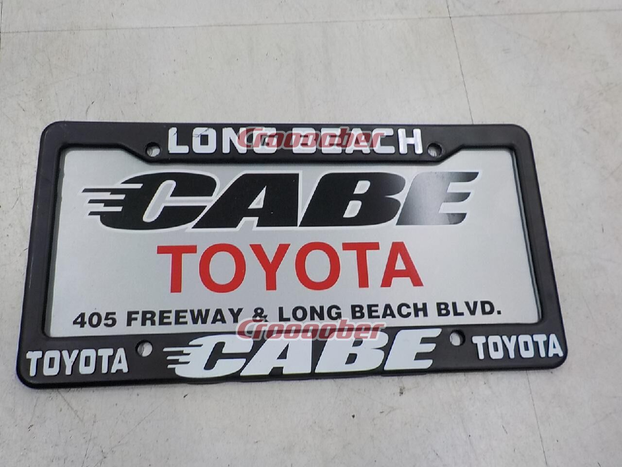 Beautiful CABE TOYOTA LONG BEACH License Frame USDM USA Size