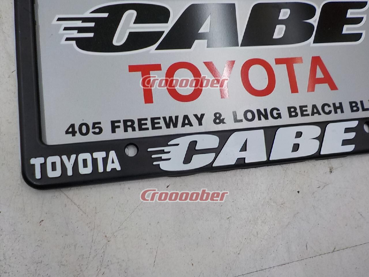 CABE TOYOTA LONG BEACH License Frame USDM USA Size | Body Parts Accessories  | Croooober