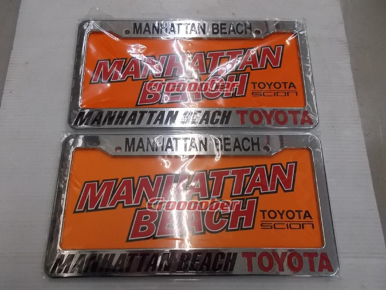 Dealer License Frame MANHATTAN BEACH TOYOTA US Number Sizes